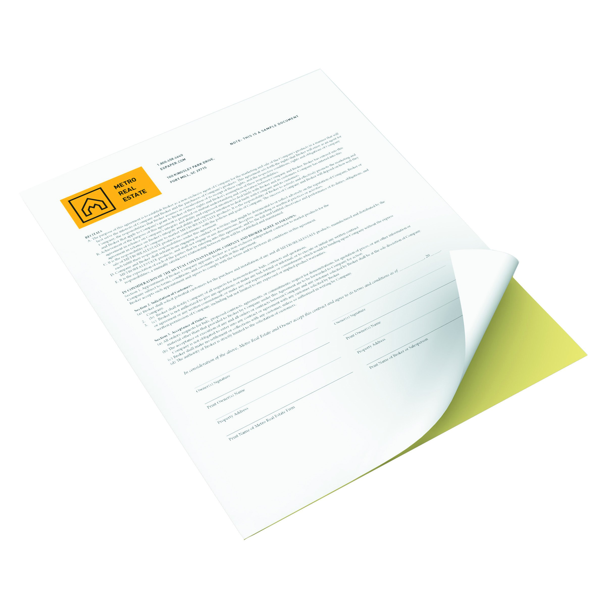 Xerox Premium Digital Carbonless Paper, Letter Size (8.5 x 11), Multi-Part White/Yellow Form, 10 reams per pack, 5000 sheets (3R12420) by Xerox