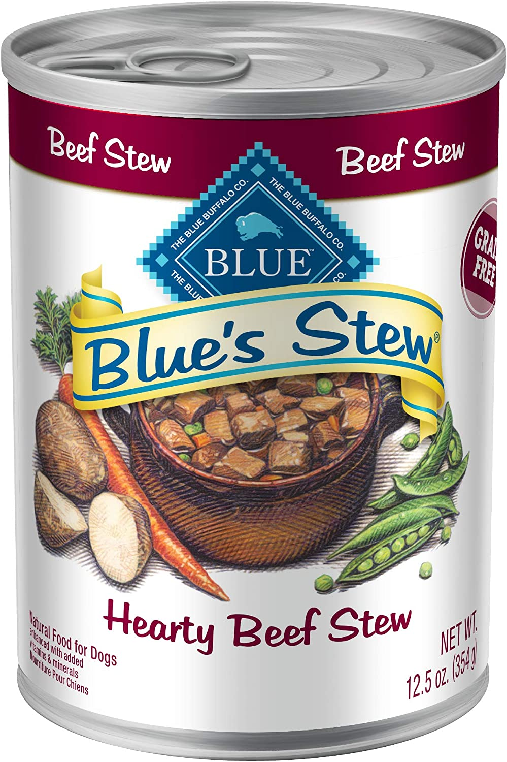 Blue Buffalo Blue'S Stew Natural Adult Wet Dog Food(Pack of 12)