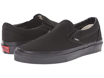 Vans Slip-On(TM) Core Classics (5.5 B(M) US Women / 4 D(M) US Men,  Black/Black)
