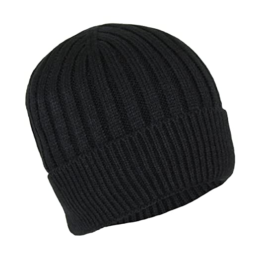 Classic Ribbed Cable Knit Beanie Hat-Unisex Warm Fleece Lined Acrylic Winter  Cap (Black) at Amazon Men s Clothing store  407b0ee3a79b