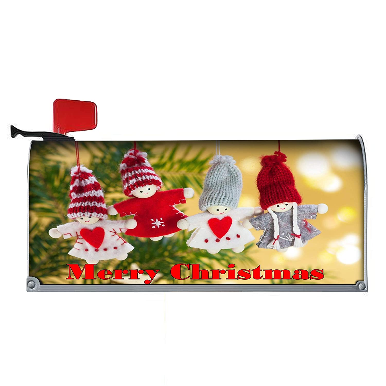 Christmas Mailbox Covers.Amazon Com Four Lovely Dolls Decorations Mailbox Cover