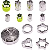 CoZroom Metal Cookie Cutters, 31-Piece Cookie Cutters Set, Heart Shape