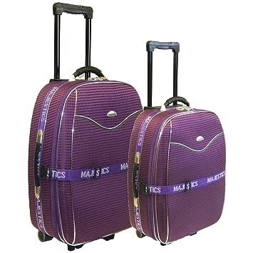 c7b4f8f98 2 pcs Medium + Ryanair Small Cabin Size Hand Luggage Trolley Suitcase Set  (Purple)
