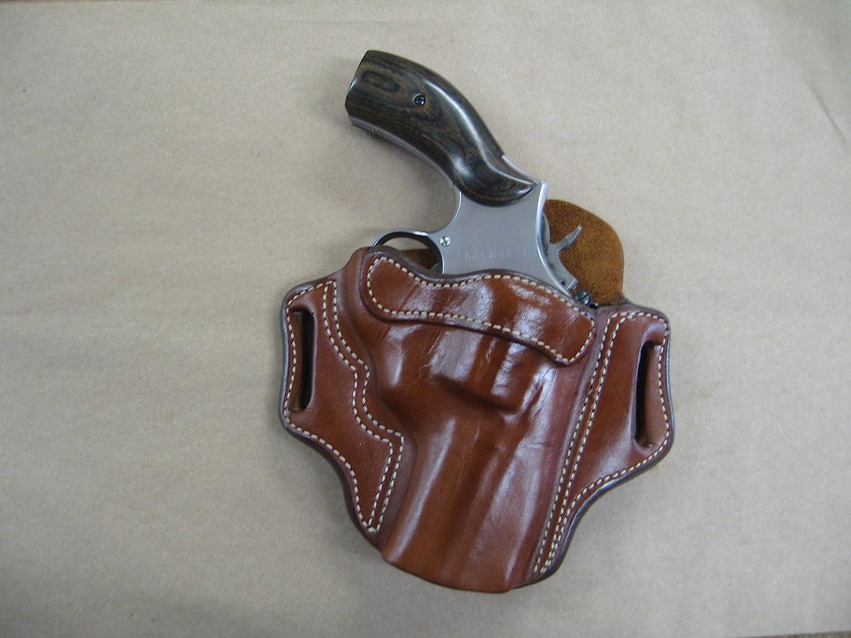 "Taurus Model 608 Revolver 4/"" Leather 2 Slot Pancake Belt Holster CCW  TAN RH"