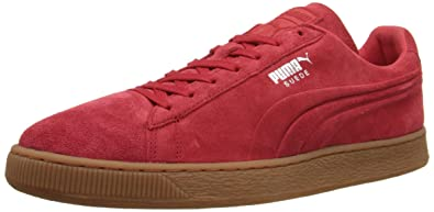 puma shoes suede red. puma suede emboss sneaker, high risk red/gum, 8 d us puma shoes red a