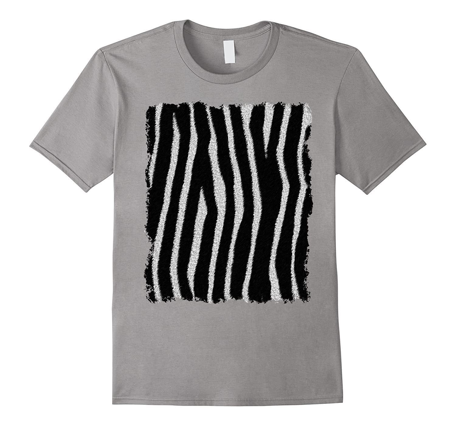 Zebra Hide T Shirt - Animal Print, Lazy Costume, Fun Tee-ANZ