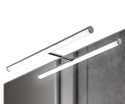 Ebir luce led per specchio bagno in alluminio irene s3 l.496mm 6w