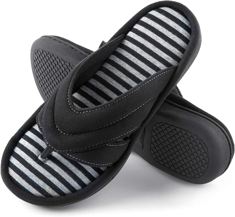 Memory Foam Flip Flop Slippers with