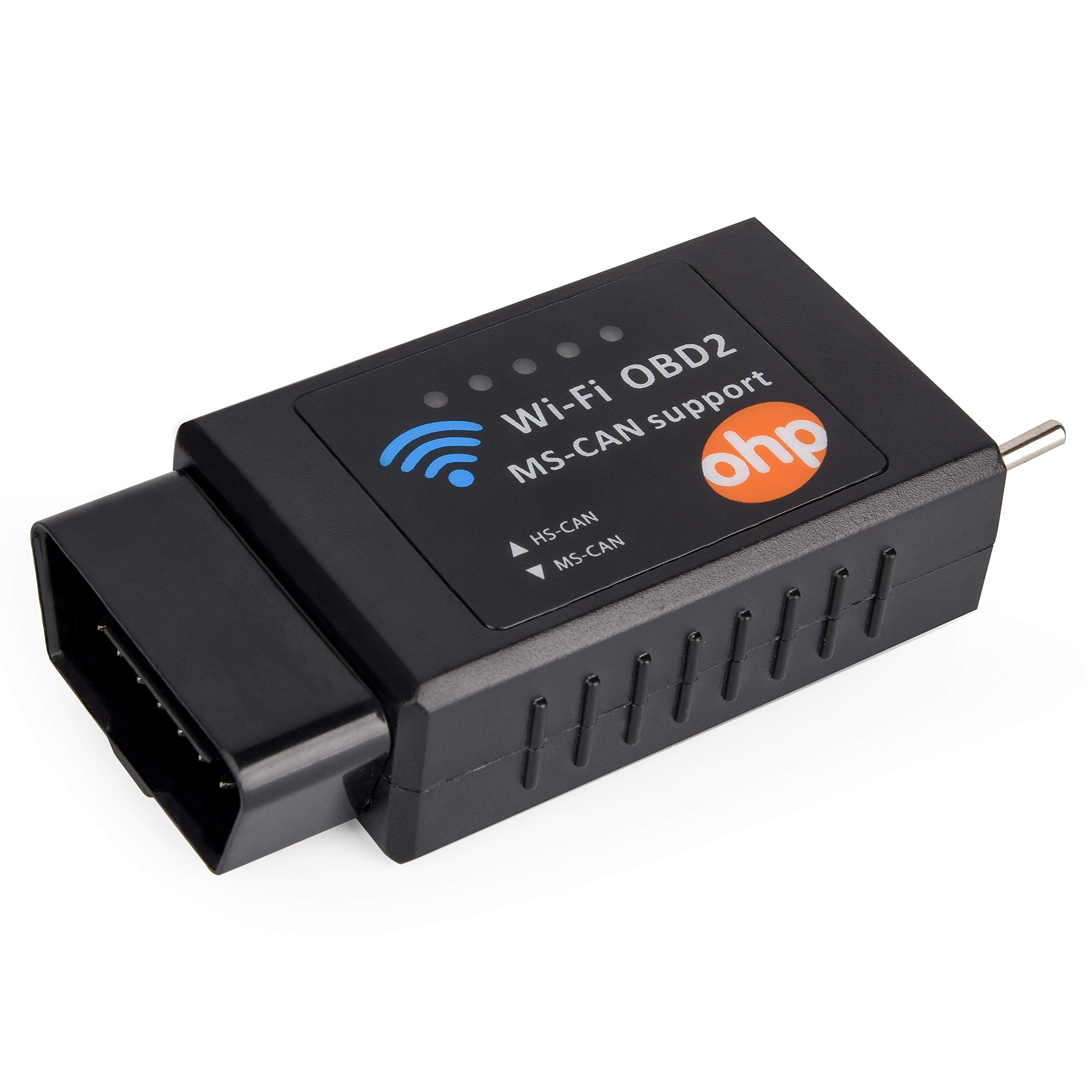OHP WI-Fi OBD2 Diagnostics Code Reader Scanner (HS-Can/MS-Can Switch) - Forscan Compatible - Ford/Mazda Car Models - iOS, Windows, Android Devices