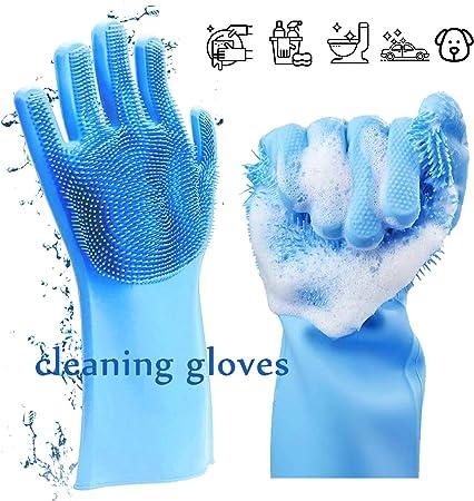 Amazon.com: Guantes de silicona para lavar platos ...