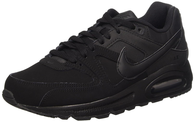 Nike Air MAX Command Leather - Zapatillas de Running, Hombre 42.5 EU|Negro / Gris (Black / Black-anthracite)