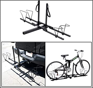 New 2 Bike Bicycle Carrier Hitch Receiver 2/'/' Heavy Duty Mount Rack Truck SUV US