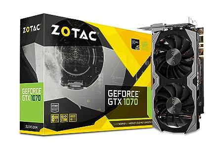 Zotac ZT-P10700G-10M - Tarjeta gráfica (GeForce GTX 1070, 8 GB, GDDR5, 256 bit, 8000 MHz, PCI Express 3.0)