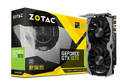 ZOTAC GeForce GTX 1070 Mini 8GB GDDR5 VR Ready Super Compact Gaming Graphics Card (ZT-P10700G-10M)
