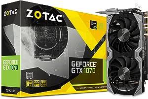 ZOTAC GeForce GTX 1070 Mini 8GB GDDR5 VR Ready Super Compact Gaming Graphics Card (ZT-P10700G-10M),Black