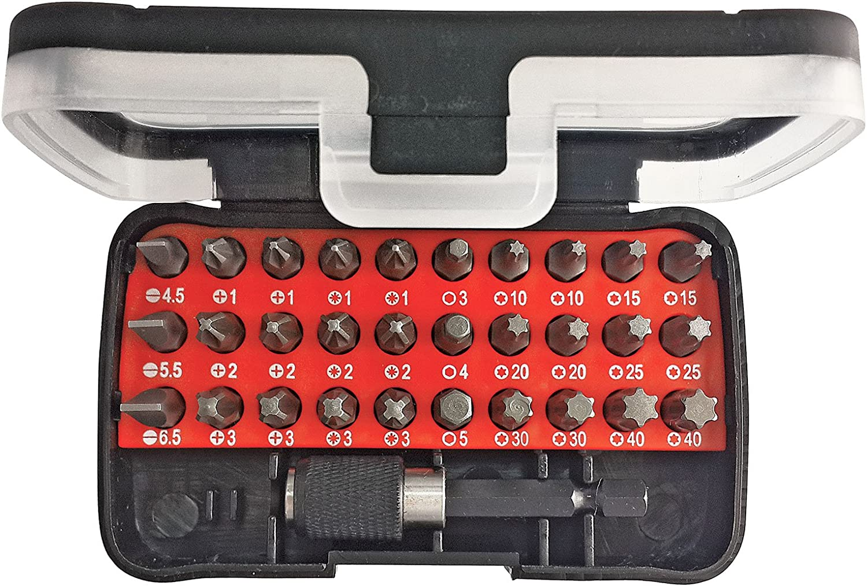 GEDORE RED Bit box 1//4 SL+PH+PZ+TX Hexagon 32pcs