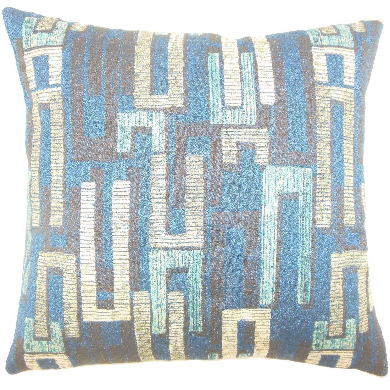 The Pillow Collection Xola Geometric Bedding Sham Sapphire Standard//20 x 26