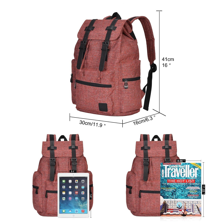Veevan Vintage Backpacks Casual Laptop Rucksack Hiking Daybacks Travel Outdoor Shouder Bag Blue