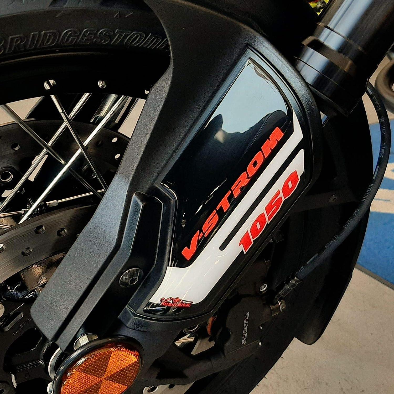 Adh/ésifs 3D Pour Protections de Fource Compatible Avec Suzuki 2020 V-Strom 1050 XT Orange