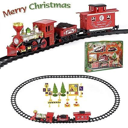 Amazoncom Fuliyear Christmas Toy Train Set Battery Powered Train