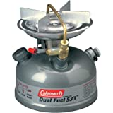 Coleman Camping Stove   Sportster II Dual Fuel Backpacking Stove, 1-Burner, Green