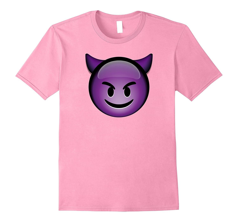 Cute Smiling Purple Devil Emoji Shirt-T-Shirt