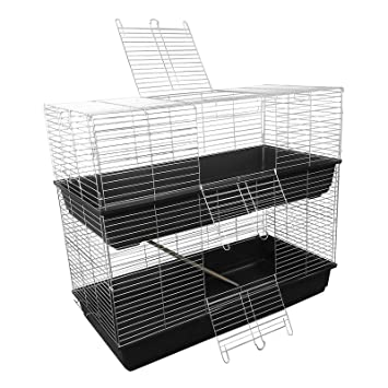 New 120cm Two Tier Indoor Rabbit / Guinea Pig Cage with Accessories  QD56