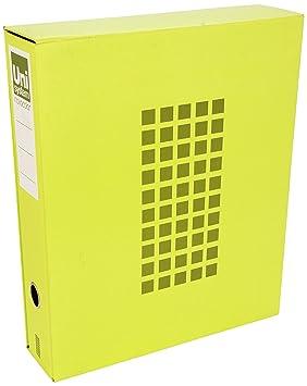 Unisystem 929766 - Módulo archivador novocolor tamaño folio, color amarillo: Amazon.es: Oficina y papelería