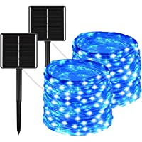 BHCLIGHT 2 Pack Solar String Lights, Upgraded Durable 200 LED Solar Lights Outdoor, Waterproof 8 Modes Solar Fairy…