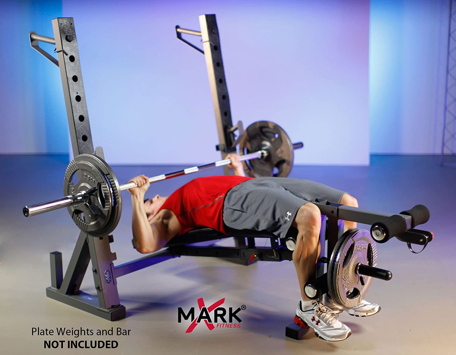 Amazon.com : XMark International Olympic Weight Bench with Leg and ...