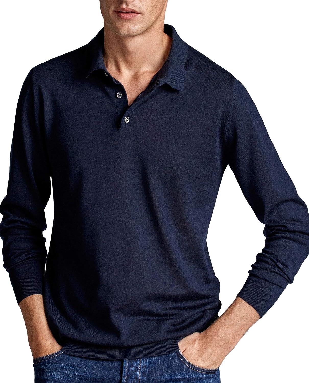 Massimo Dutti 0916/305 - Polo de Lana Merino para Hombre Azul XL ...