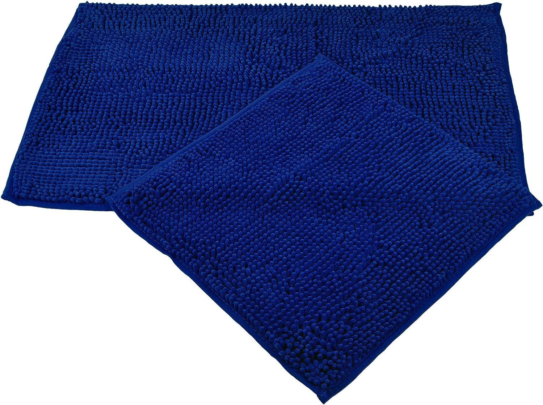 Tappetino da Bagno in Microfibra Menta 50 x 45 cm mit Ausschnitt G/özze Poliestere