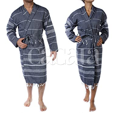 79387e9373 Image Unavailable. Image not available for. Color  Cacala Hooded Bathrobe  Pestemal Fabric 100% Turkish Cotton ...