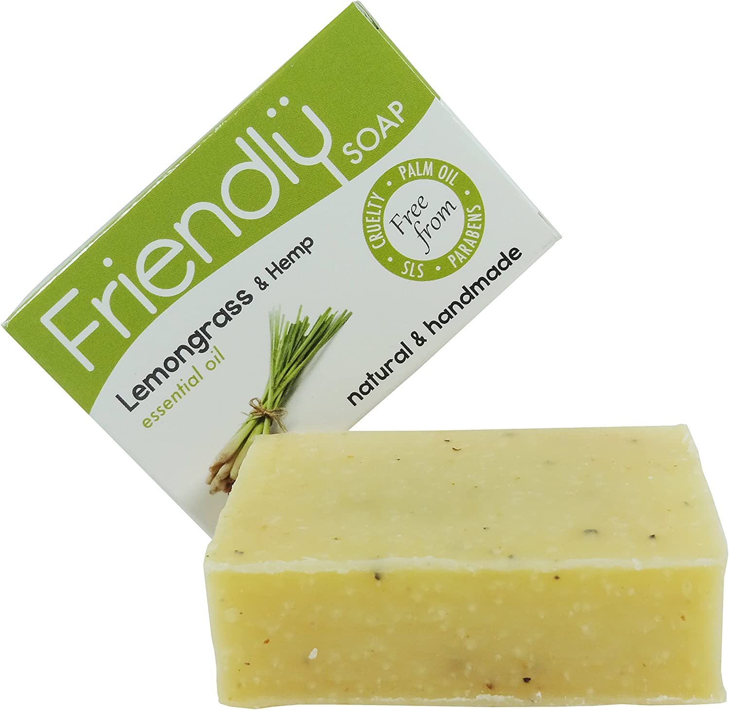 Friendly Soap Lemongrass & Hemp x 2 (Pack of 2)
