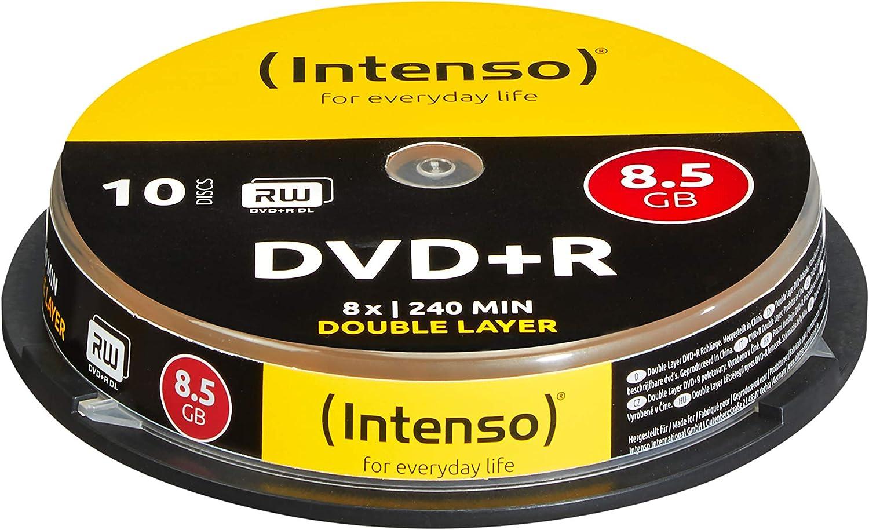 Intenso 4311142 - Pack de 10 DVD+R, 8x, 8.5 GB: Amazon.es: Informática