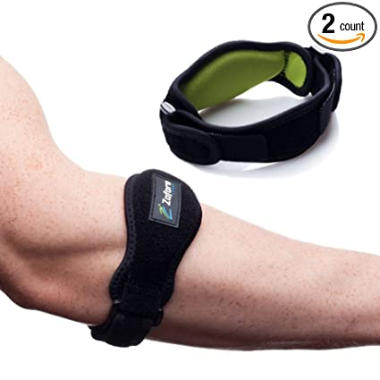 e7abf8c374 Zofore Tennis Elbow Brace with Compression Pad (2-Count) Effective Pain  Relief for Tennis & Golfer's Elbow for Men & Women