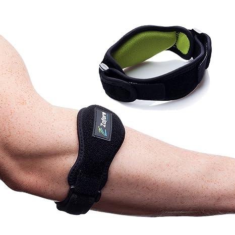 Codera de tenis Zofore - Pack de 2 - Alivio eficaz del dolor del codo de