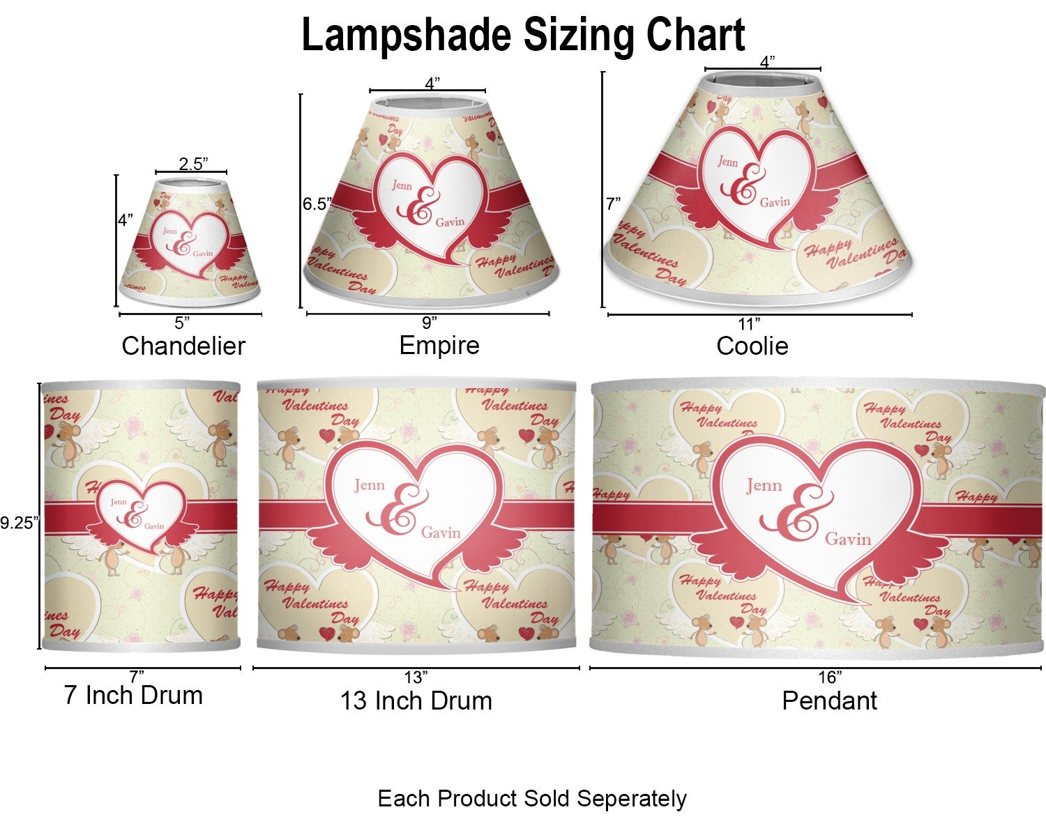 RNK Shops Mouse Love Coolie Lamp Shade (Personalized) by RNK Shops (Image #2)