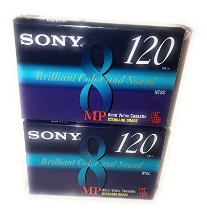Sony MP 8mm Video Cassette Standard Grade 120 min (2 Pack)