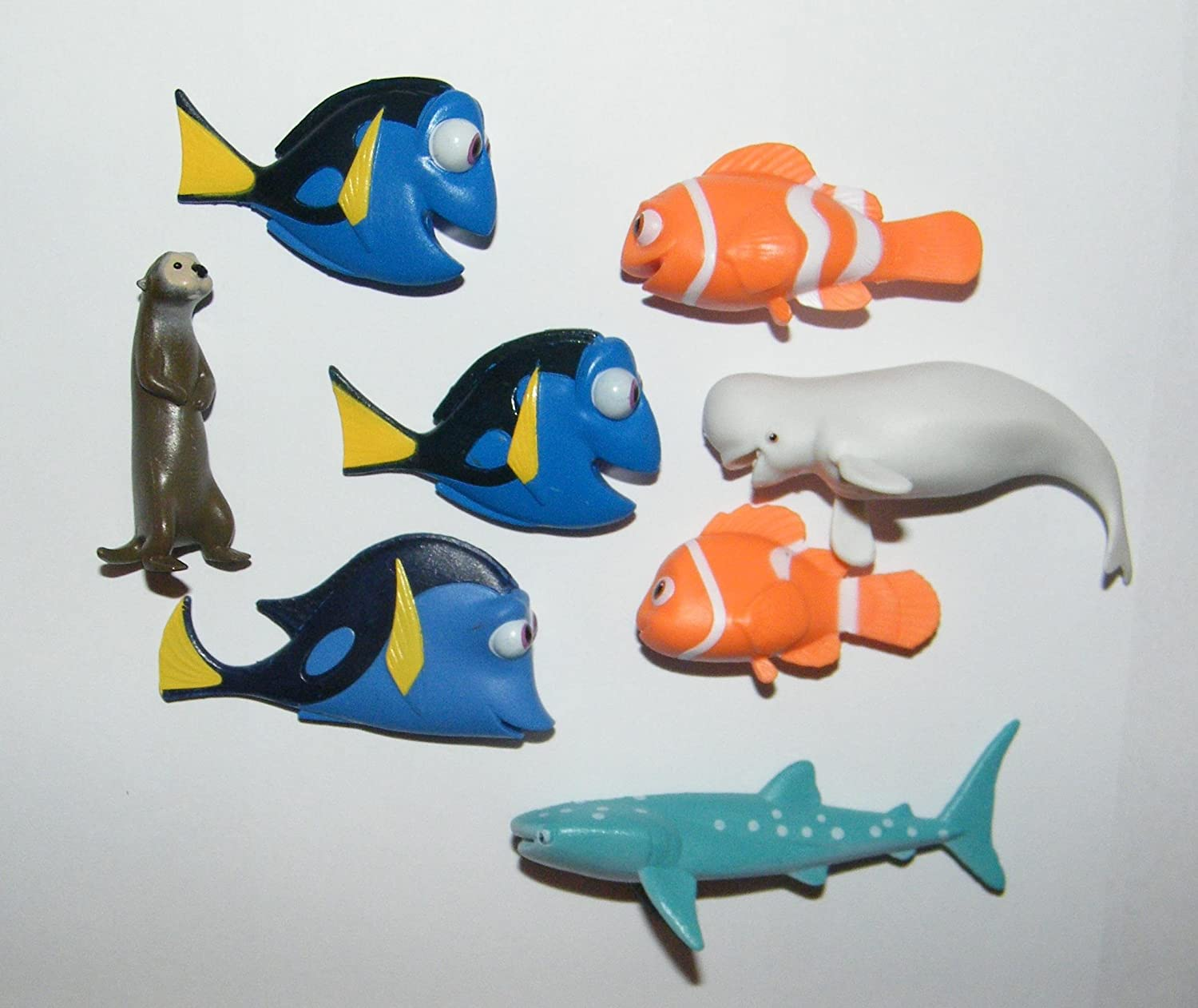 Nemo and Mnay More! a Sticker Sheet Disney Finding Dory Deluxe Mini Cake Toppers Cupcake Decorations Set of 14 with Figures ToyRing Featuring Dory