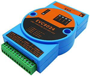 BUELEC USB Converter High Speed USB to RS232/RS485/RS422/TTL 4 in 1 Converter,Magnetic Isolated,Built-in 3000V Dual Isolation Power Module,Two-Way Independent Data Transmission,FT4232 Chipset