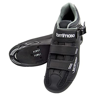 Tommaso Strada 200Dual Cleat Compatible Road Touring Cycling Spinning Shoe with Buckle: Sports & Outdoors