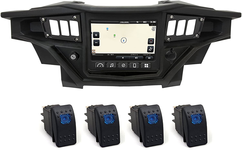 Polaris RZR XP 900 2015-2018 Black Switch Dash Panel with 4 Back-lit Switches