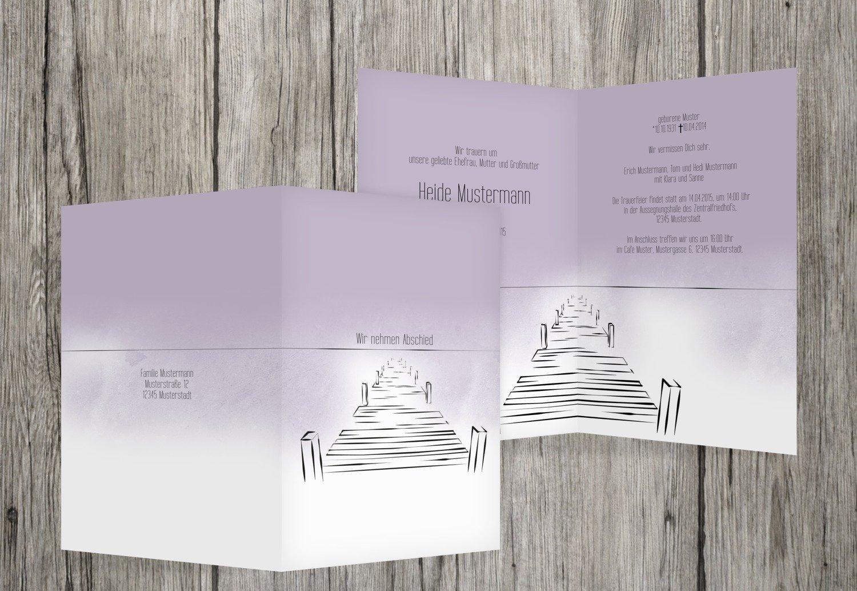 cómodamente Pastelldistelpúrpura 90 Karten Tarjeta de luto Boardwalk, Boardwalk, Boardwalk, pastellDistelpúrpura, 90 Karten  tienda de venta