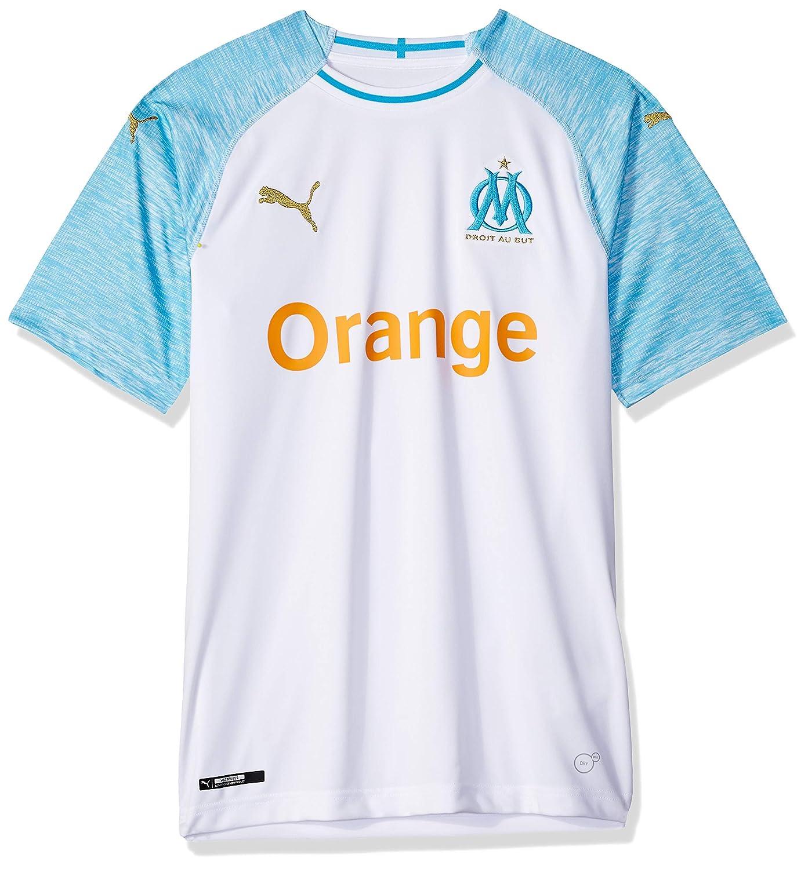 new products b66b9 718e3 PUMA Men's Standard Olympique De Marseille Home Shirt Replica
