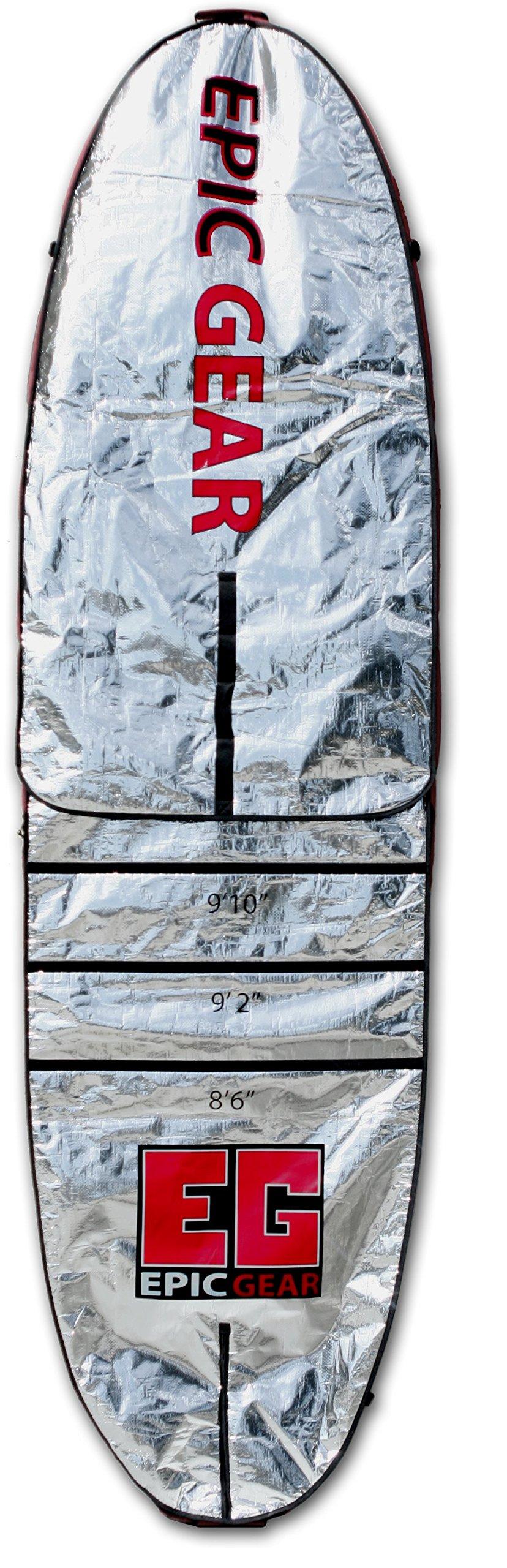 Epic Gear Adjustable Economy Day Wall 10'6'' - 12'6'' x 32'' SUP Bag, SUP Board Bag, Board Bag
