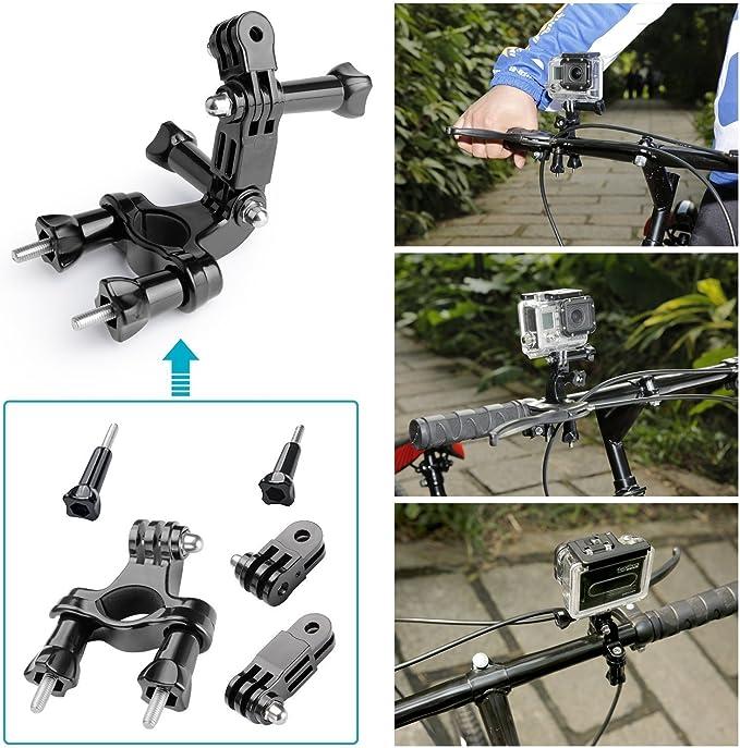 Cuatro set bicicleta correa de pecho cabeza banda f Nilox mini Actioncam