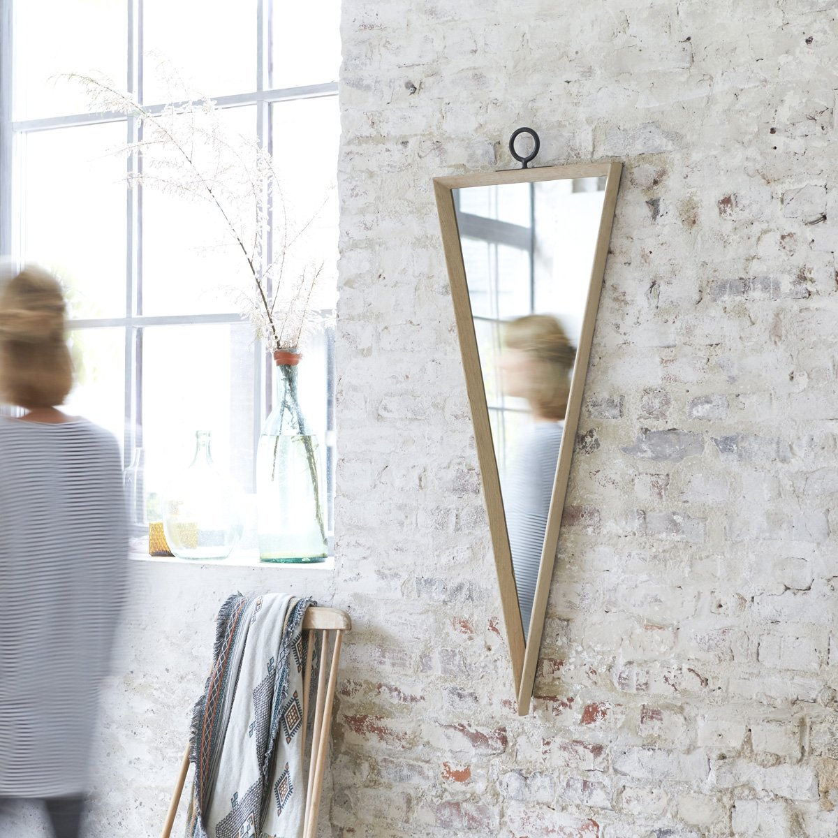 Tikamoon Ino Miroir - Chêne - Beige - 42 x 4 x 117 cm