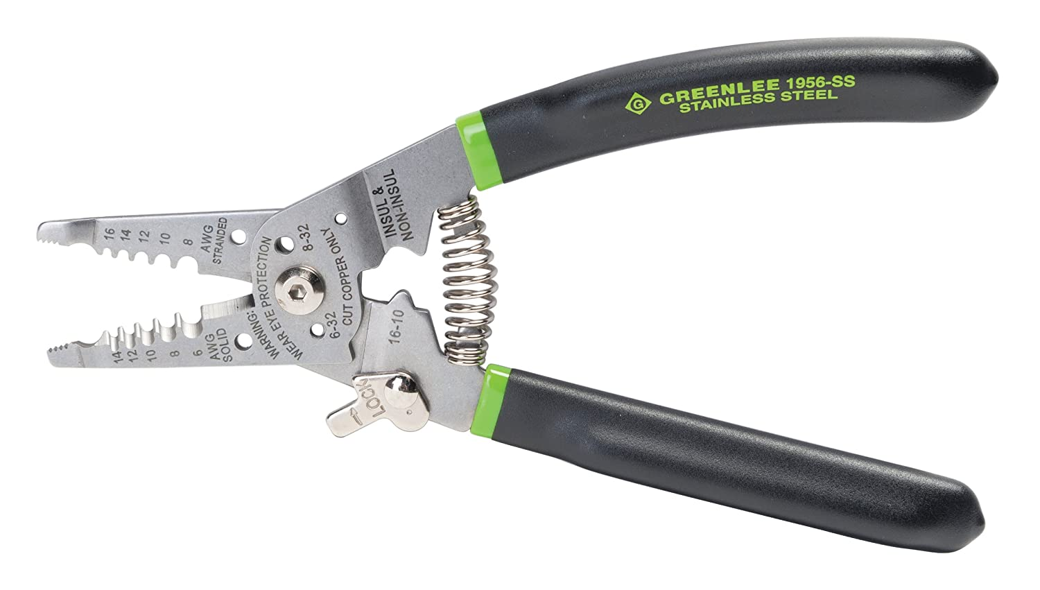 Greenlee 1956-SS Pro Stainless Wire Stripper, Cutter and Crimper ...