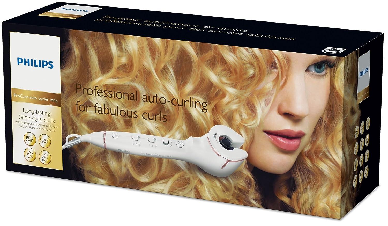 Philips HPS950/00 Utensilio de peinado Rizador de pelo automático Caliente Oro, Blanco 2 m - Moldeador de pelo (Rizador de pelo automático, Caliente, ...